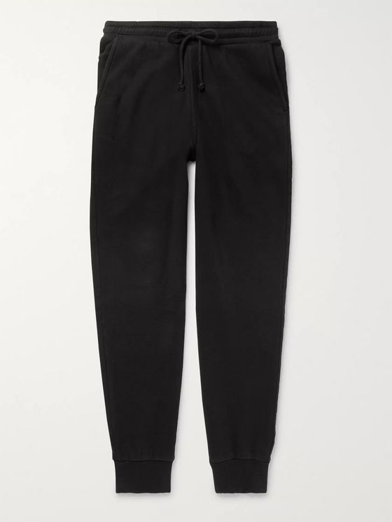 Holiday Boileau Slim-Fit Tapered Fleece-Back Cotton-Jersey Sweatpants