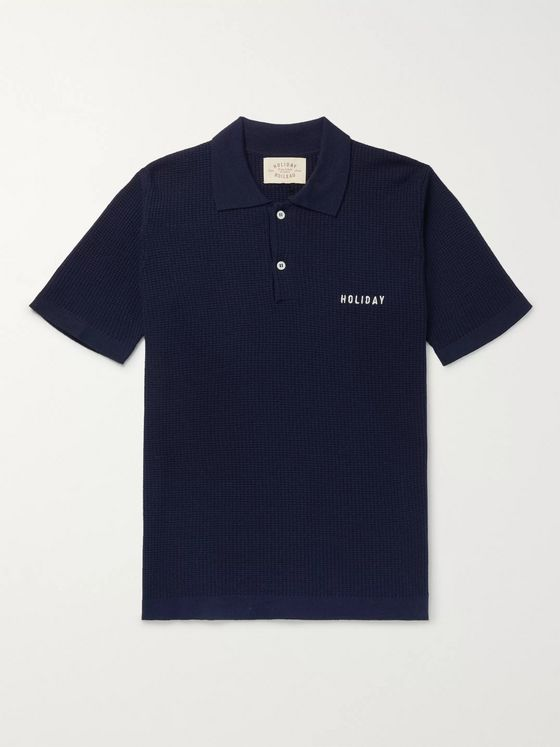 Holiday Boileau Slim-Fit Logo-Embroidered Virgin Wool Polo Shirt
