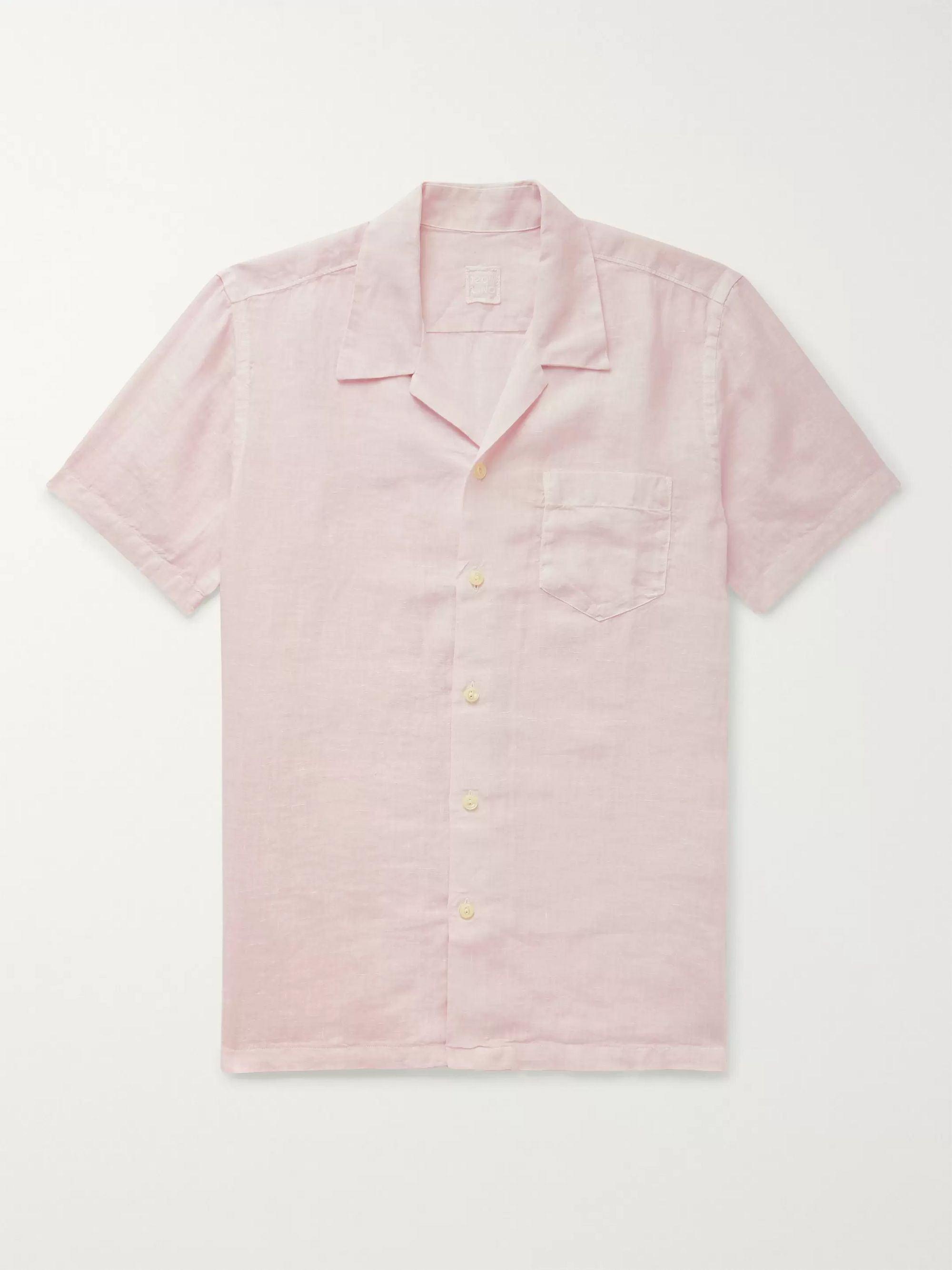 120% Camp-Collar Garment-Dyed Linen Shirt