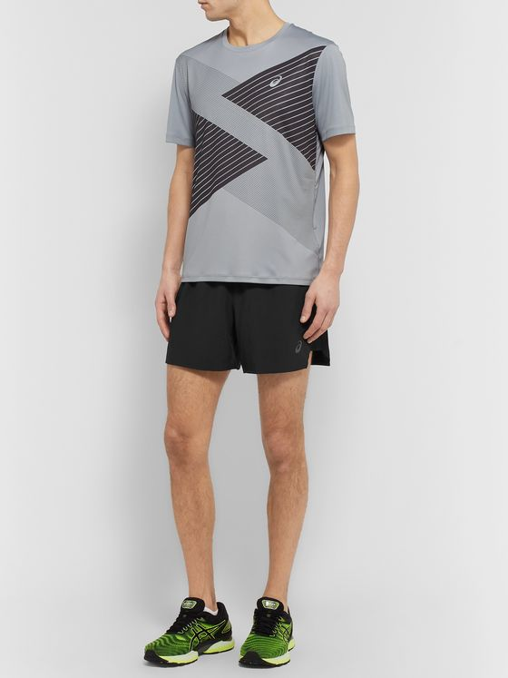 ASICS Road Slim-Fit Mesh-Panelled Shorts