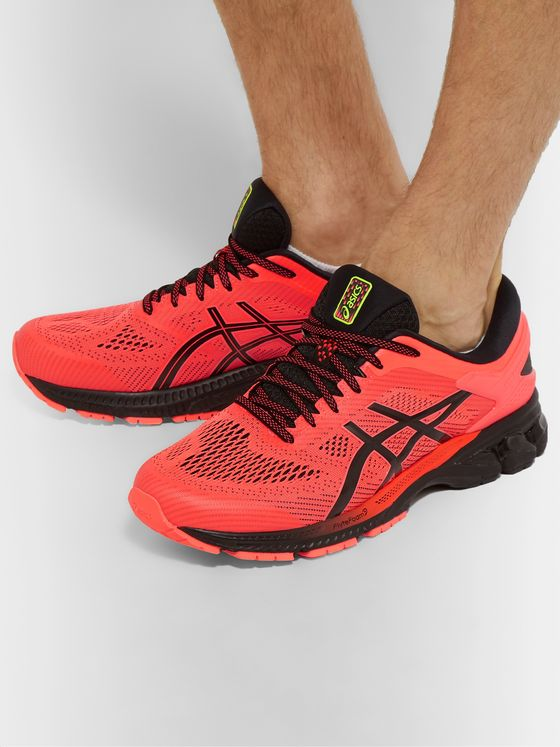 ASICS GEL-KAYANO 26 Neon Mesh and Rubber Running Sneakers