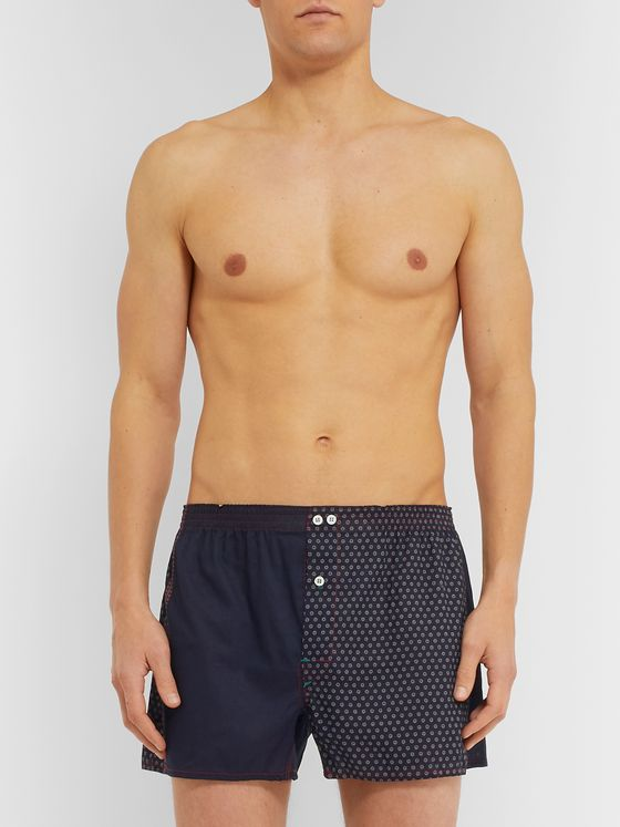 Anonymous Ism Printed Cotton Boxer Shorts