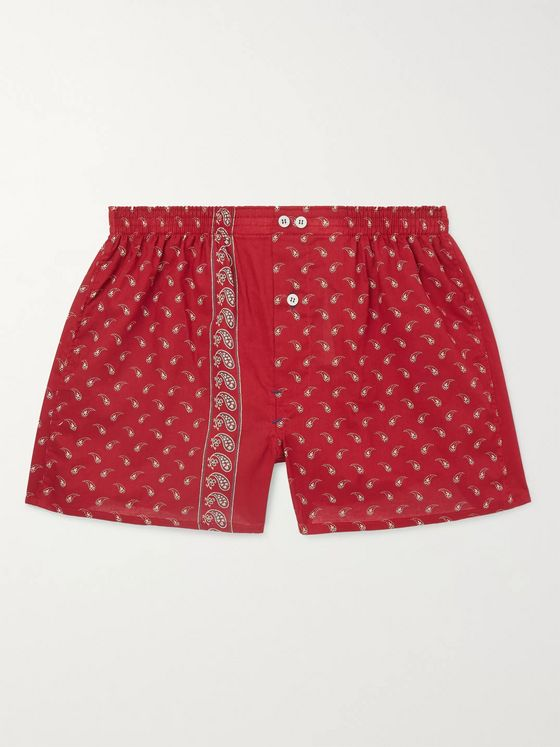 Anonymous Ism Paisley-Print Cotton Boxer Shorts