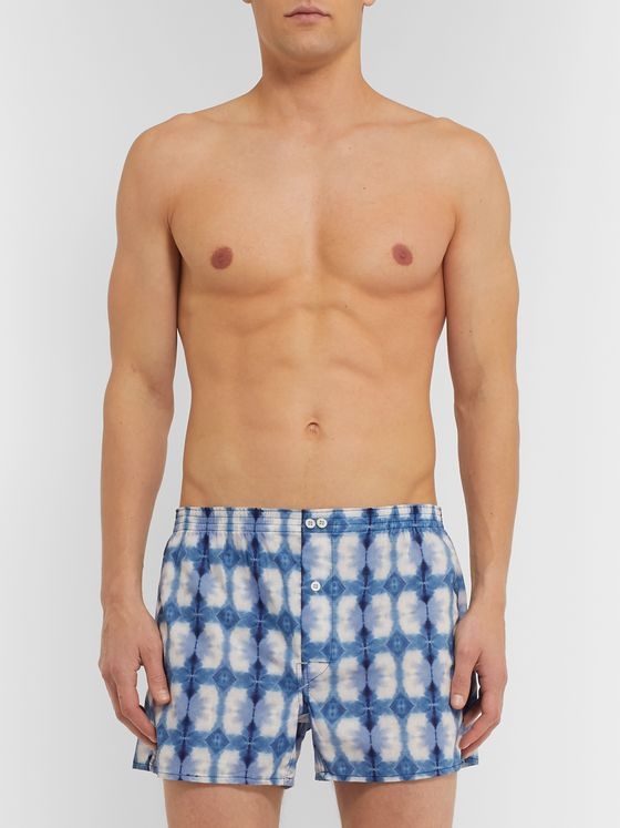 Anonymous Ism Tie-Dyed Cotton Boxer Shorts