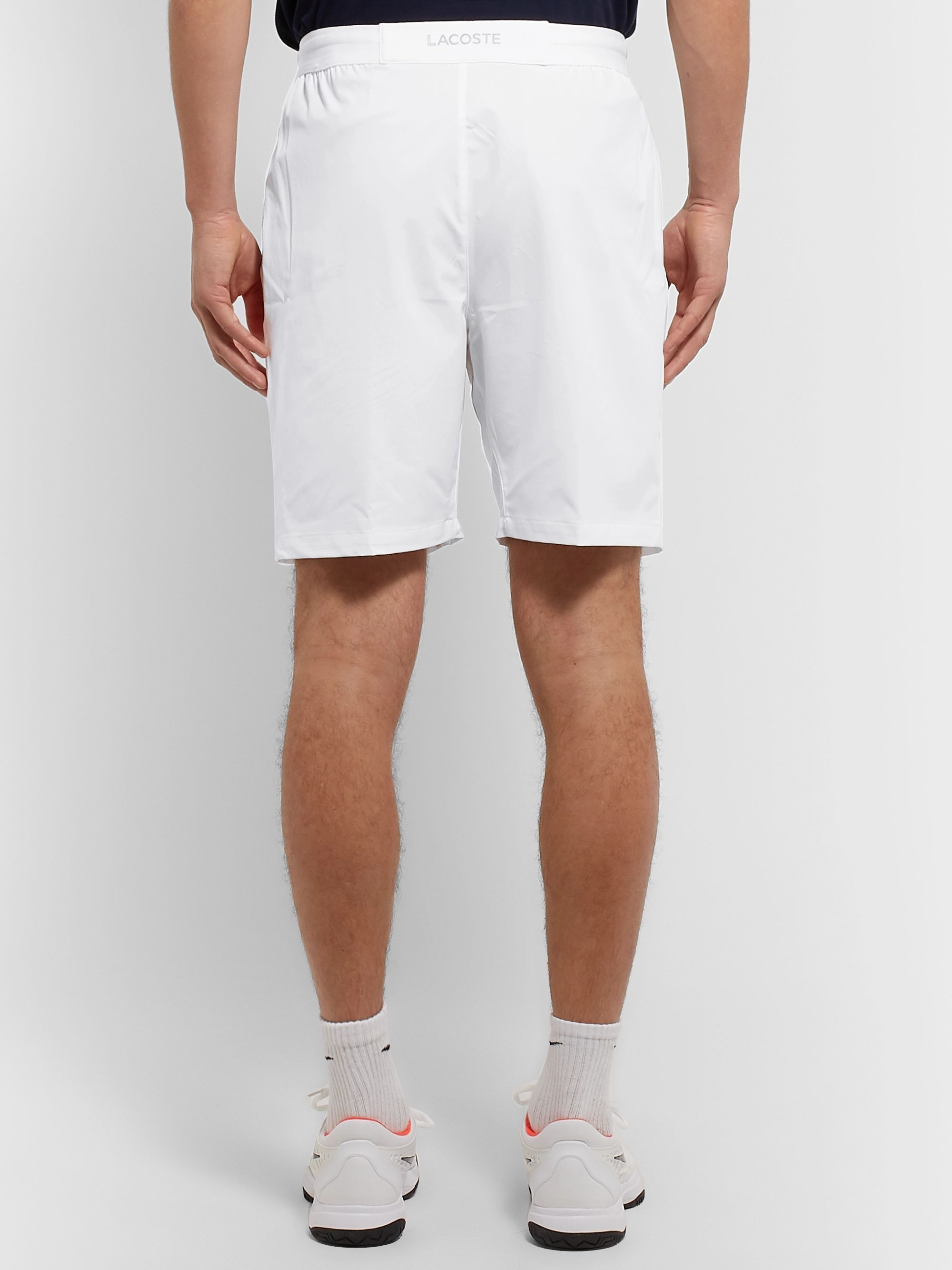 Lacoste Tennis Logo-Appliquéd Stretch-Shell Shorts