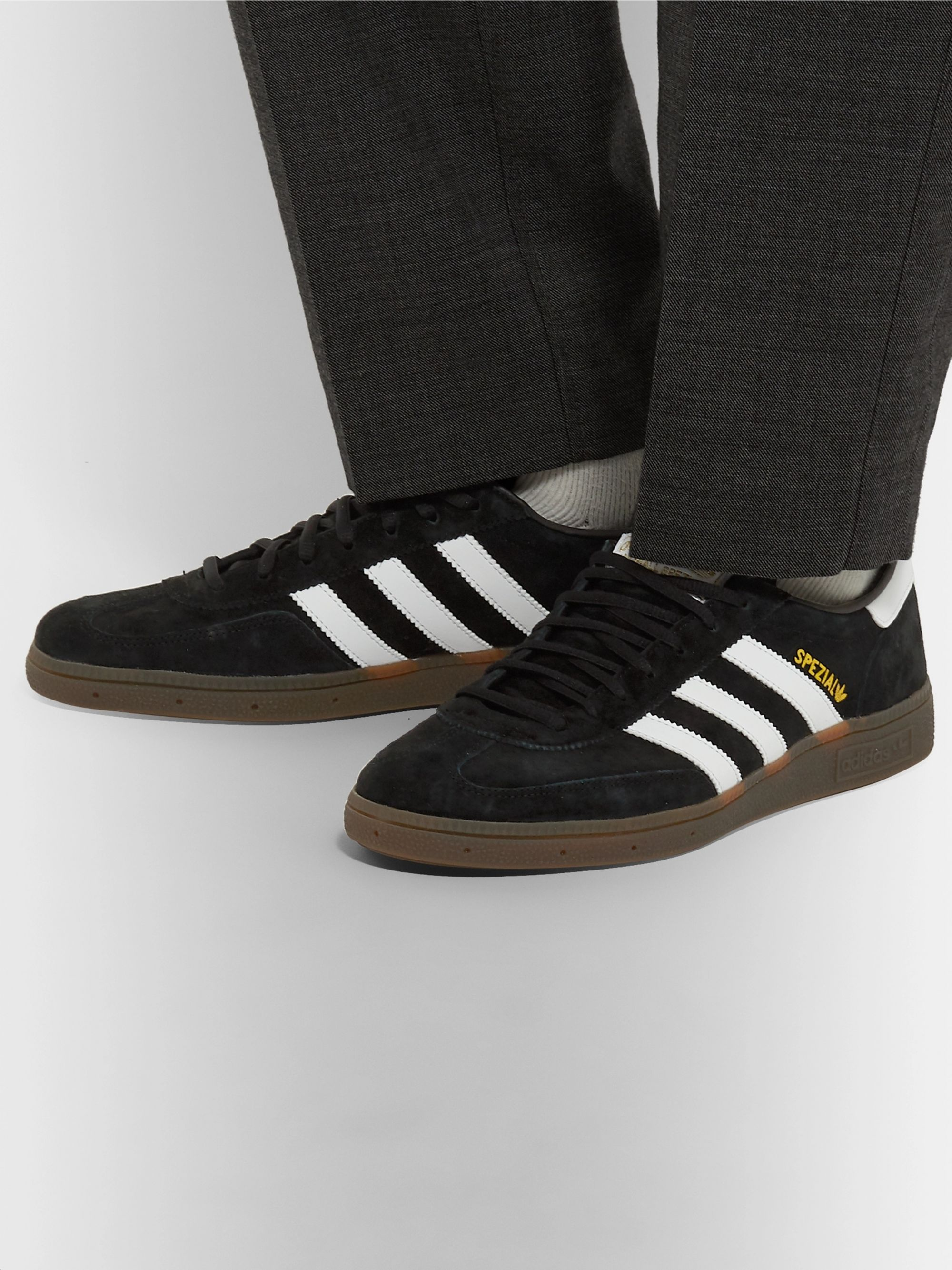 Black Handball Spezial Suede and Leather Sneakers | adidas
