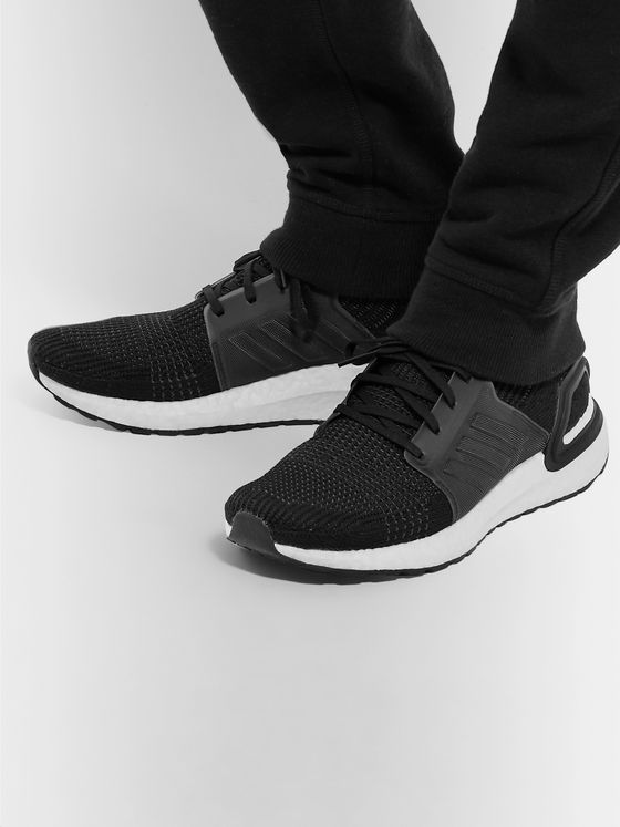 adidas Originals UltraBOOST 19 Rubber-Trimmed Primeknit Running Sneakers