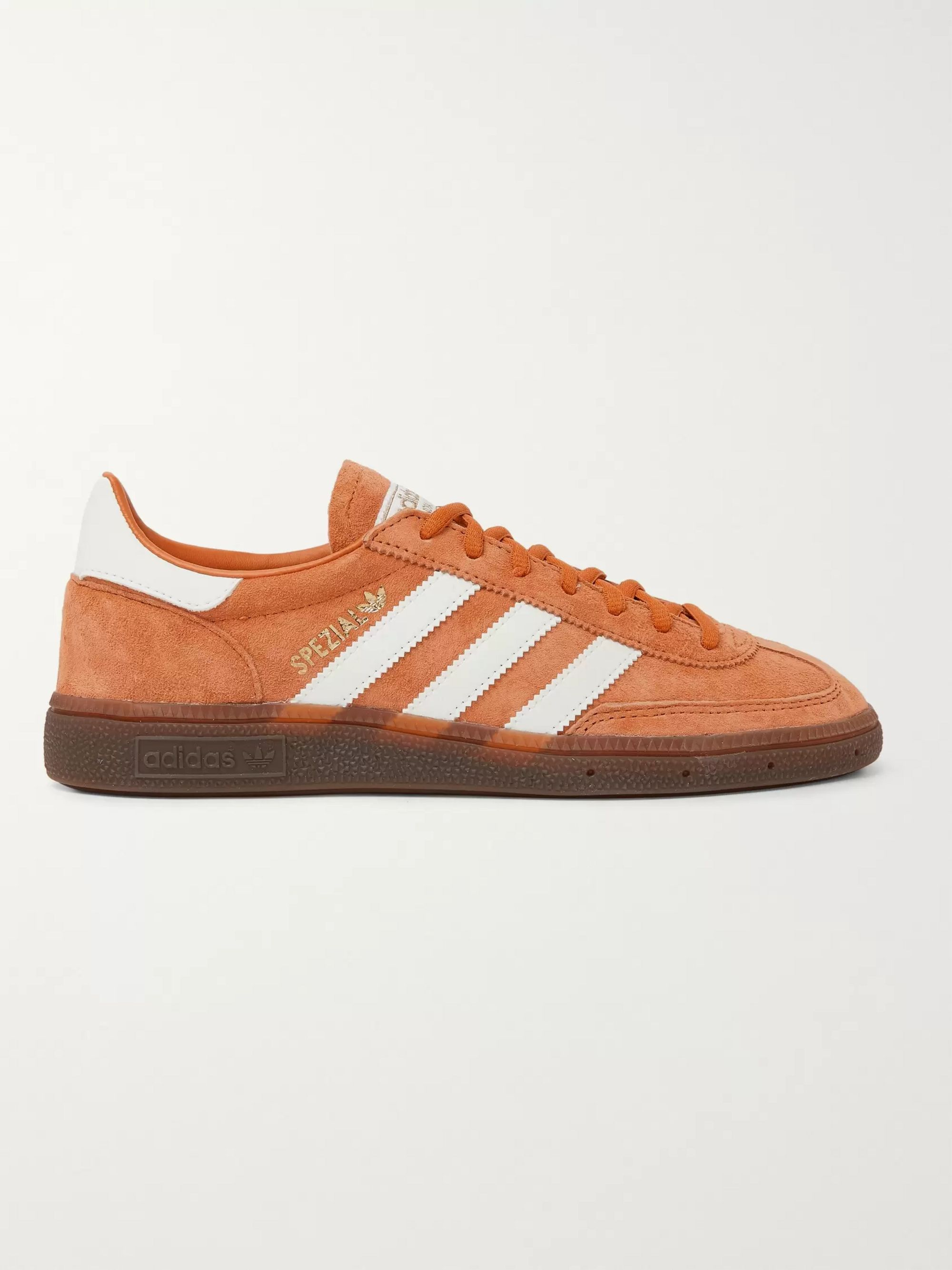 adidas Originals Handball Spezial Suede and Leather Sneakers