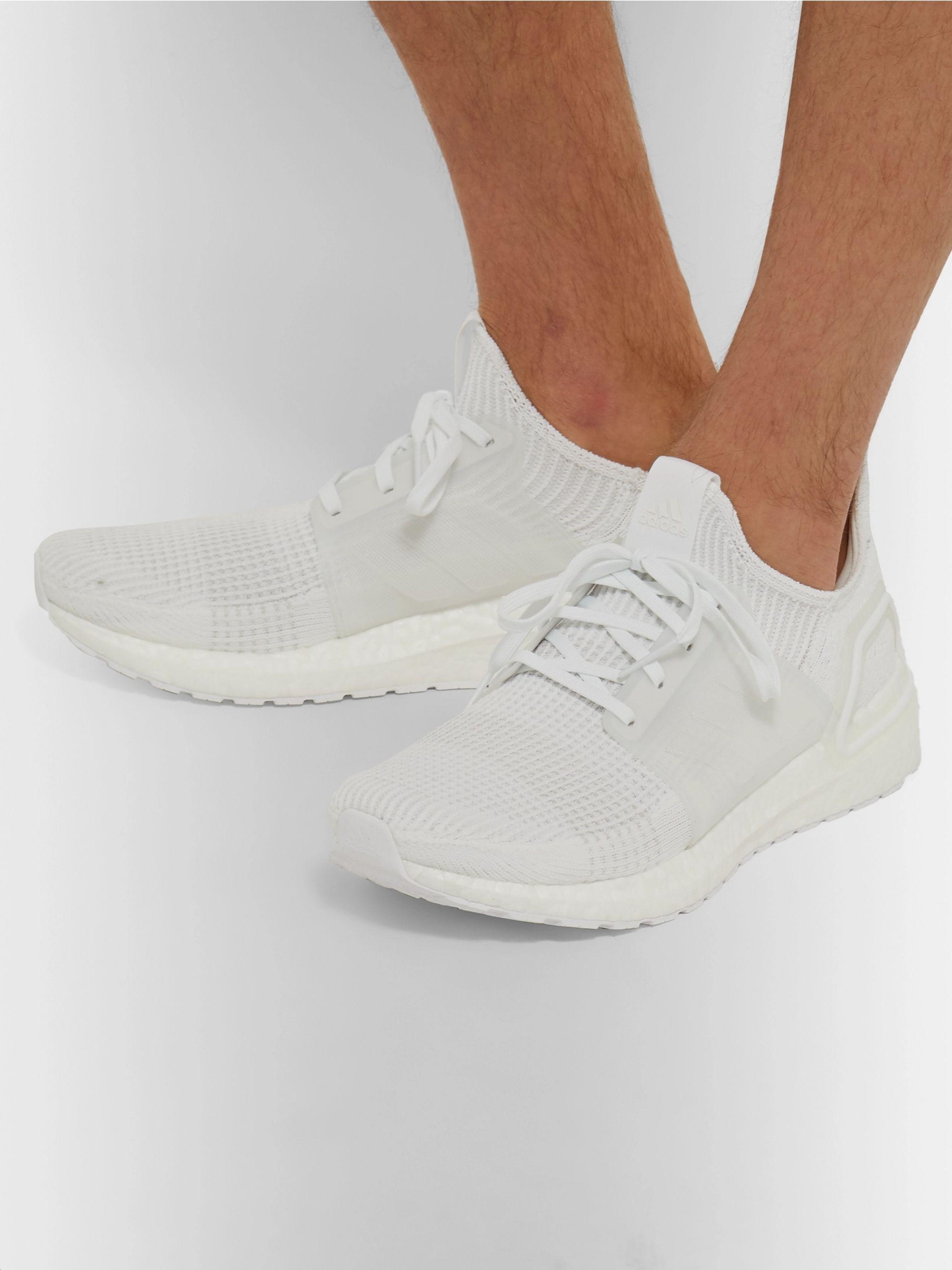 adidas Originals Men White UltraBoost 19 Sneakers