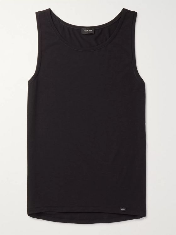 Hanro Stretch Lyocell and Cotton-Blend Tank Top