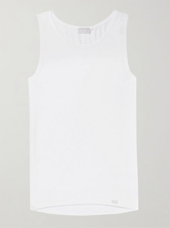 Hanro Stretch-Lyocell and Cotton-Blend Tank Top