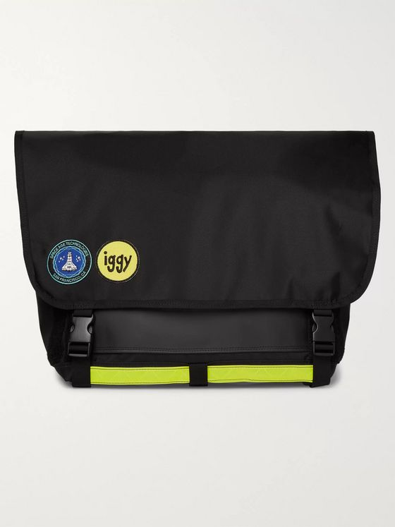 iggy Logo-Appliquéd Canvas Messenger Bag