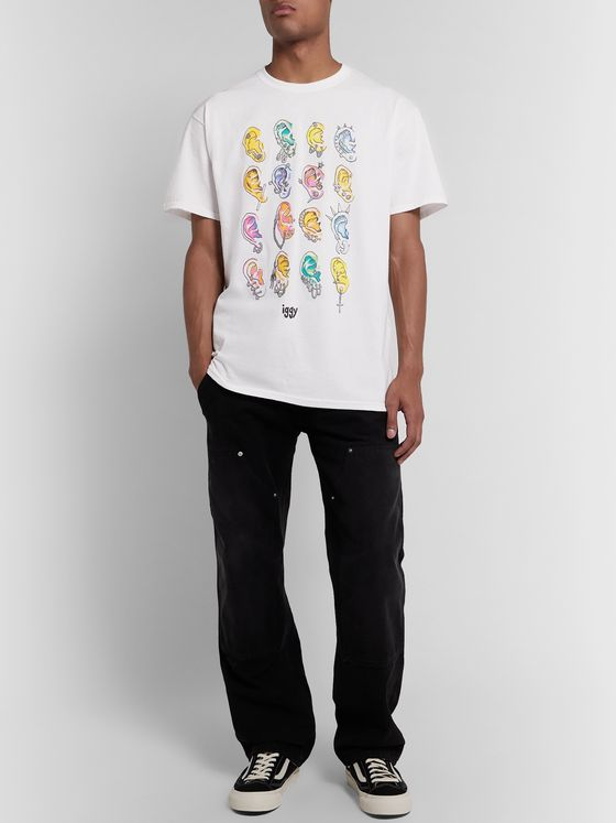 iggy Printed Cotton-Blend Jersey T-Shirt