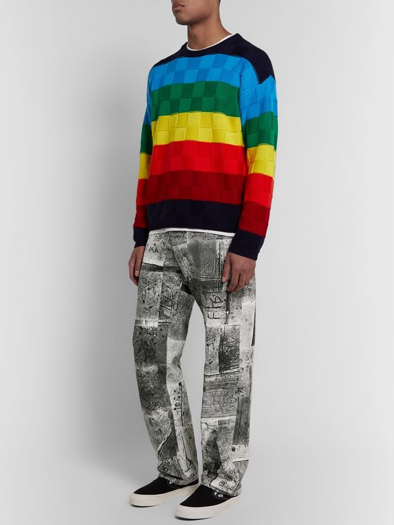 iggy Wide-Leg Printed Cotton-Poplin Trousers