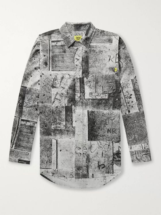 iggy Printed Cotton-Poplin Shirt