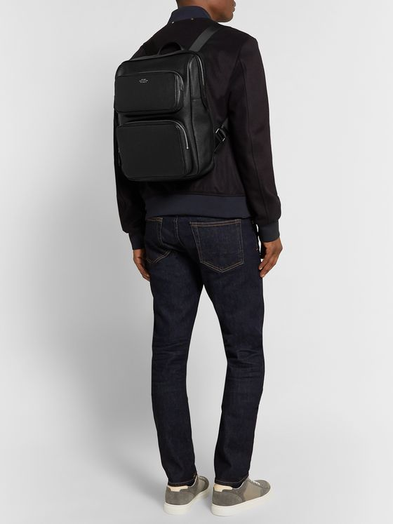 Smythson Full-Grain Leather Backpack