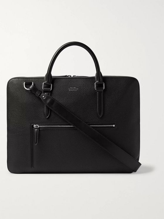Smythson Ludlow Full-Grain Leather Briefcase