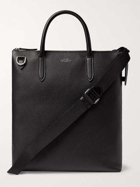 Smythson Full-Grain Leather Tote Bag