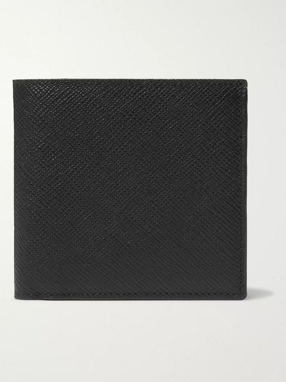 Smythson Panama Cross-Grain Leather Billfold Wallet