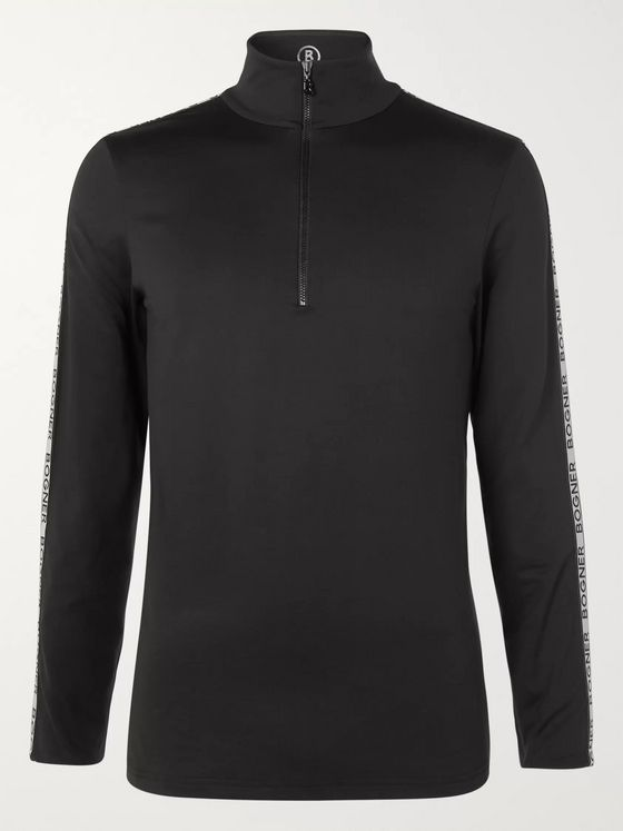 Bogner Lino Stretch-Jersey Half-Zip Base Layer
