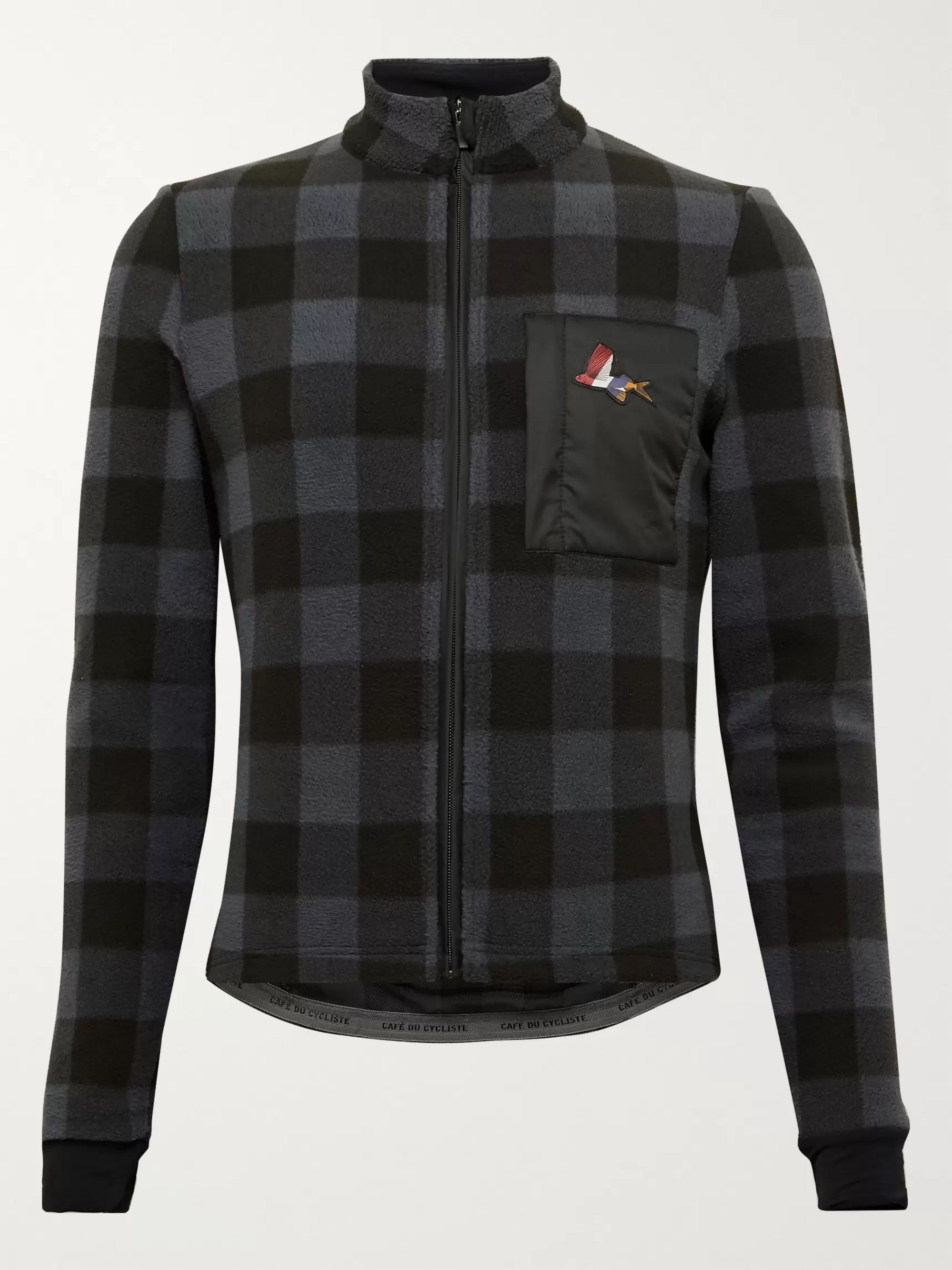 Cafe du Cycliste Solange Checked Fleece Cycling Jacket