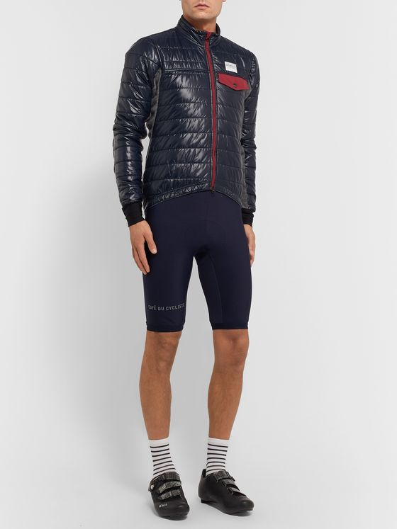 Cafe du Cycliste Albertine Fleece and Quilted Shell Cycling Jacket