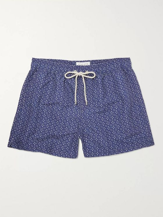 Atalaye Bakaric Mid-Length Printed Swim Shorts