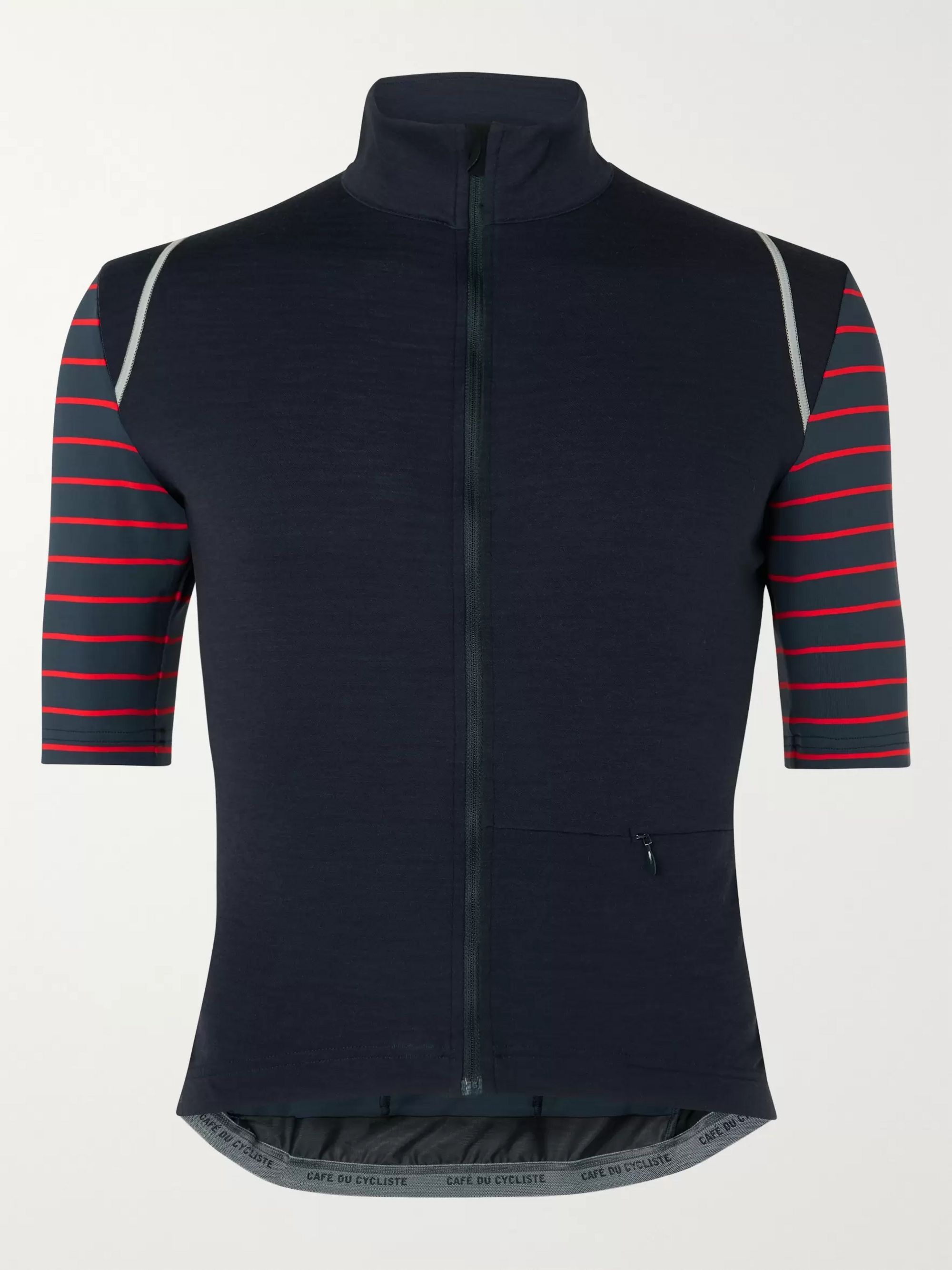 Cafe du Cycliste Monique Striped Merino Wool-Blend Jersey