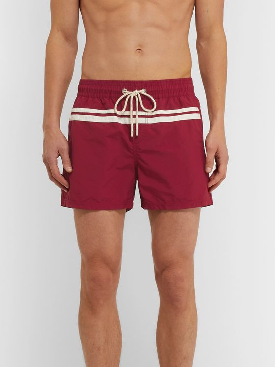Atalaye Roya Short-Length Striped Swim Shorts