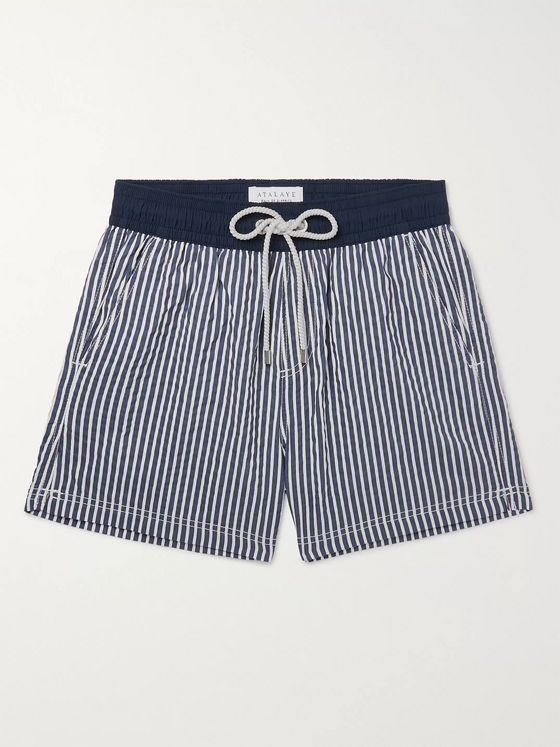 Atalaye Miramar Short-Length Striped Swim Shorts