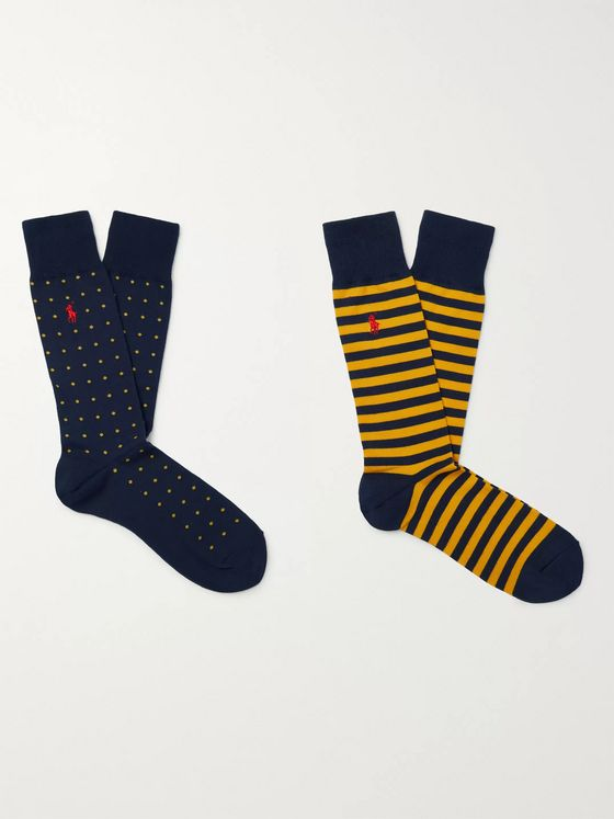 Polo Ralph Lauren Two-Pack Stretch Cotton-Blend Socks