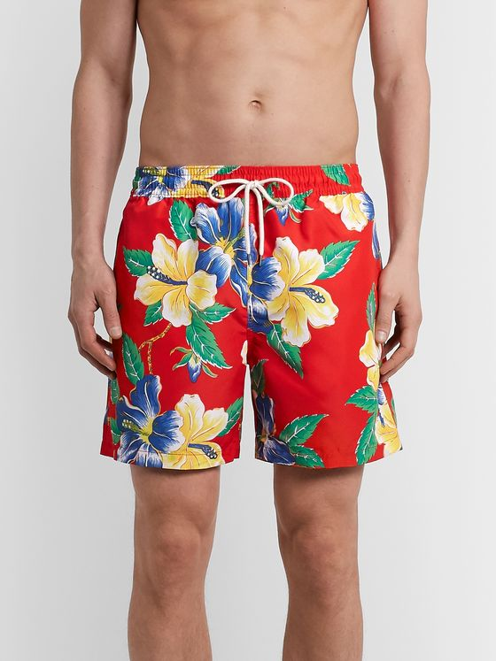 Polo Ralph Lauren Traveler Mid-Length Floral-Print Swim Shorts