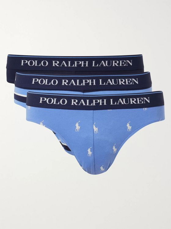Polo Ralph Lauren Three-Pack Stretch-Cotton Briefs