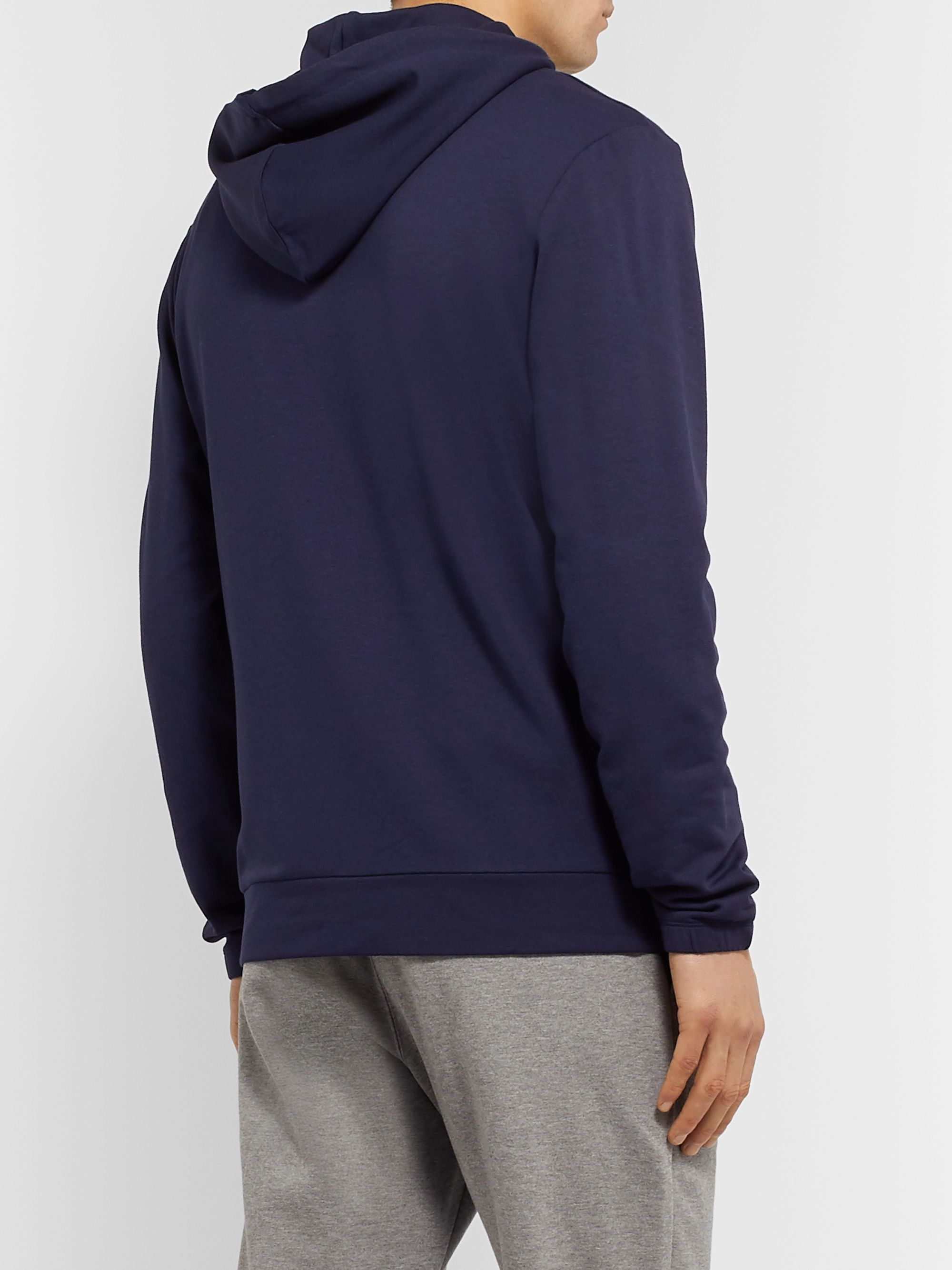 Zimmerli Slim-Fit Stretch Micro Modal and Cotton-Blend Zip-Up Hoodie