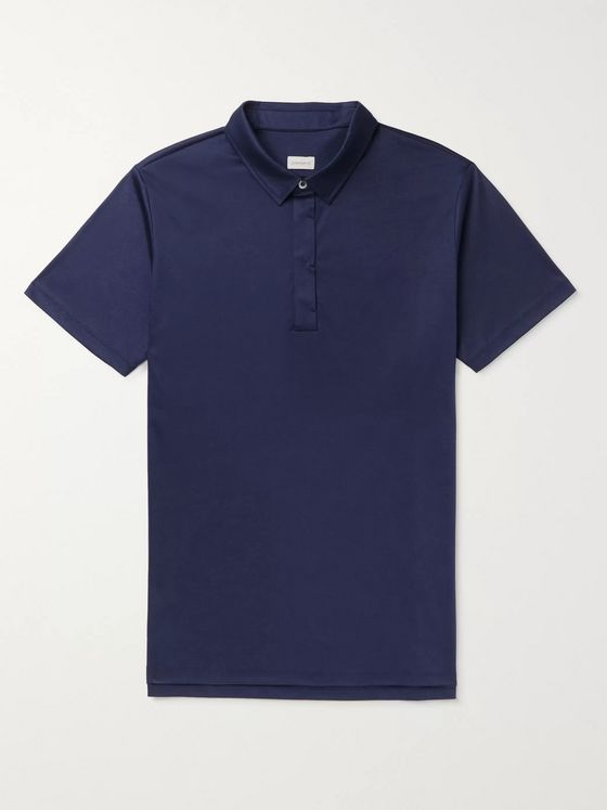 Zimmerli Slim-Fit Sea Island Cotton-Jersey Polo Shirt