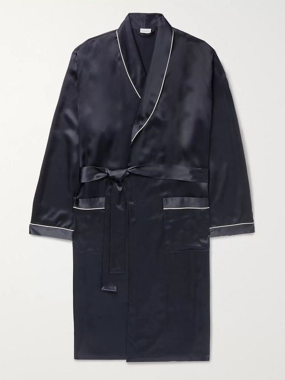 Zimmerli Piped Silk Robe