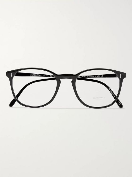Oliver Peoples Finley Vintage Round-Frame Acetate and Silver-Tone Metal Optical Glasses