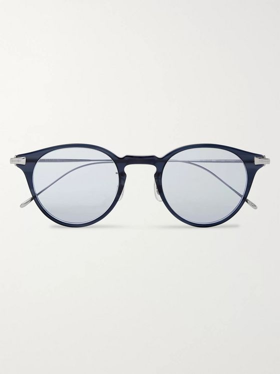 Oliver Peoples Eldon Round-Frame Acetate and Titanium Sunglasses