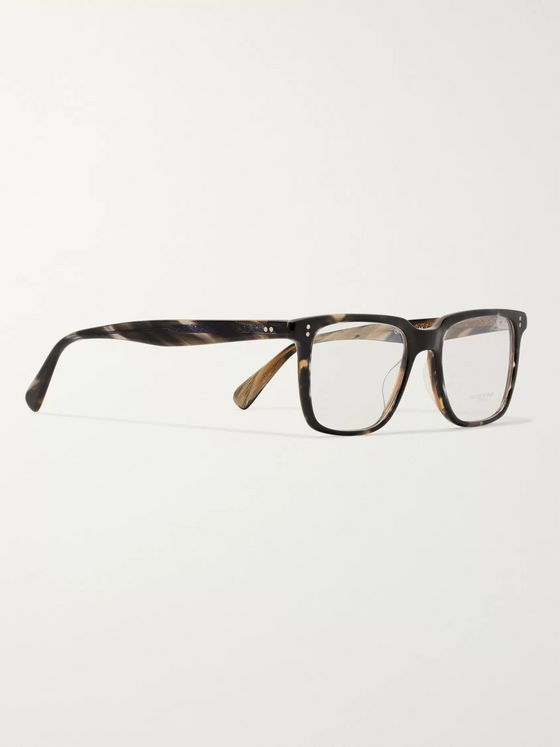 Oliver Peoples Lachman Square-Frame Tortoiseshell Acetate Optical Glasses