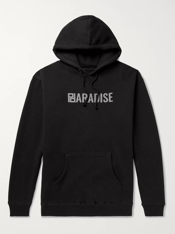 PARADISE Logo-Print Fleece-Back Cotton-Blend Jersey Hoodie