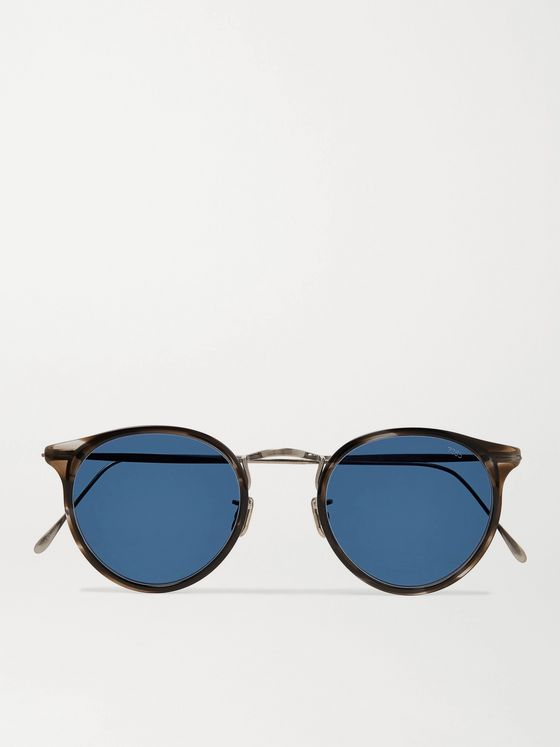 EYEVAN 7285 Round-Frame Acetate and Gunmetal-Tone Sunglasses