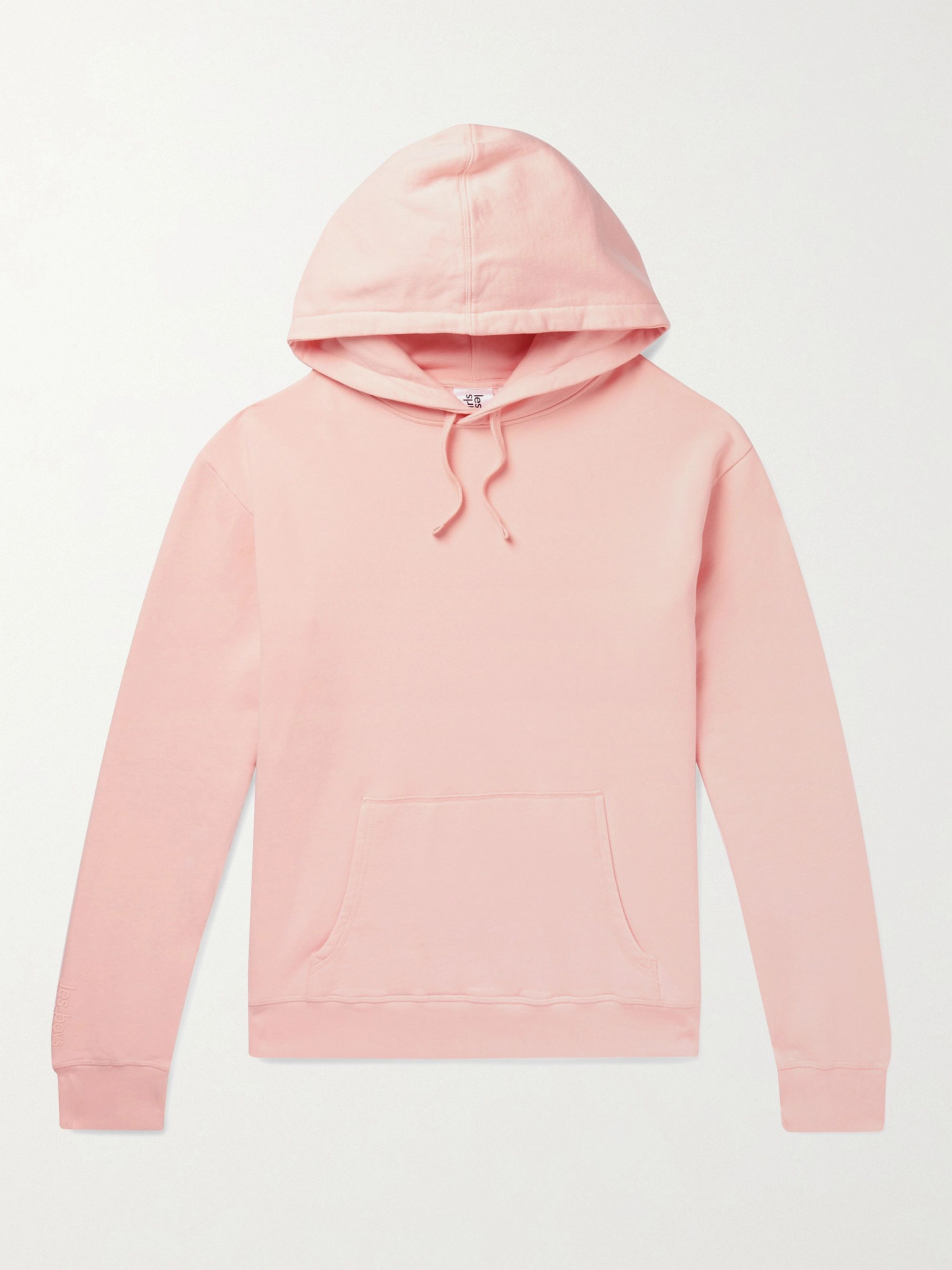 Les Girls Les Boys Logo-Print Loopback Cotton-Jersey Hoodie