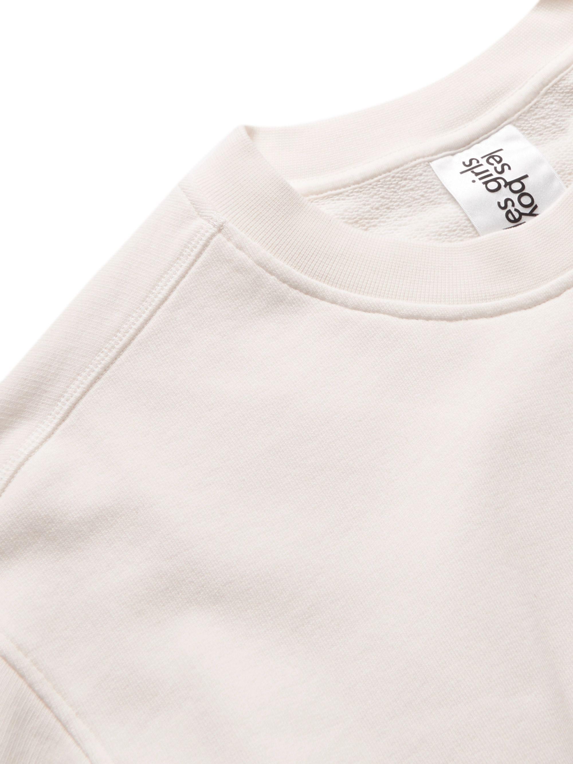 Ivory Logo-appliquéd Organic Loopback Cotton-jersey Sweatshirt | Les Girls Boys