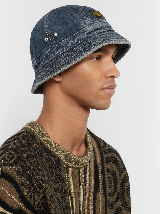 Neighborhood Savage Distressed Denim Bucket Hat