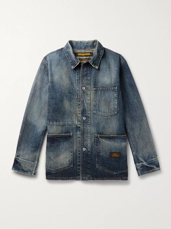Neighborhood Distressed Denim Chore Jacket