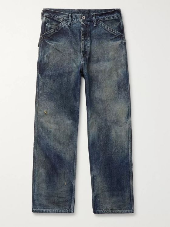 Neighborhood Wide-Leg Distressed Denim Jeans