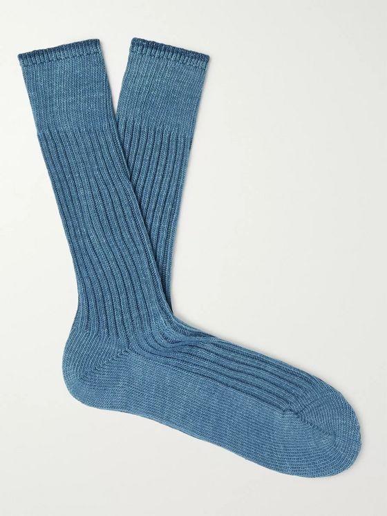 Anonymous Ism Ribbed Cotton-Blend Socks