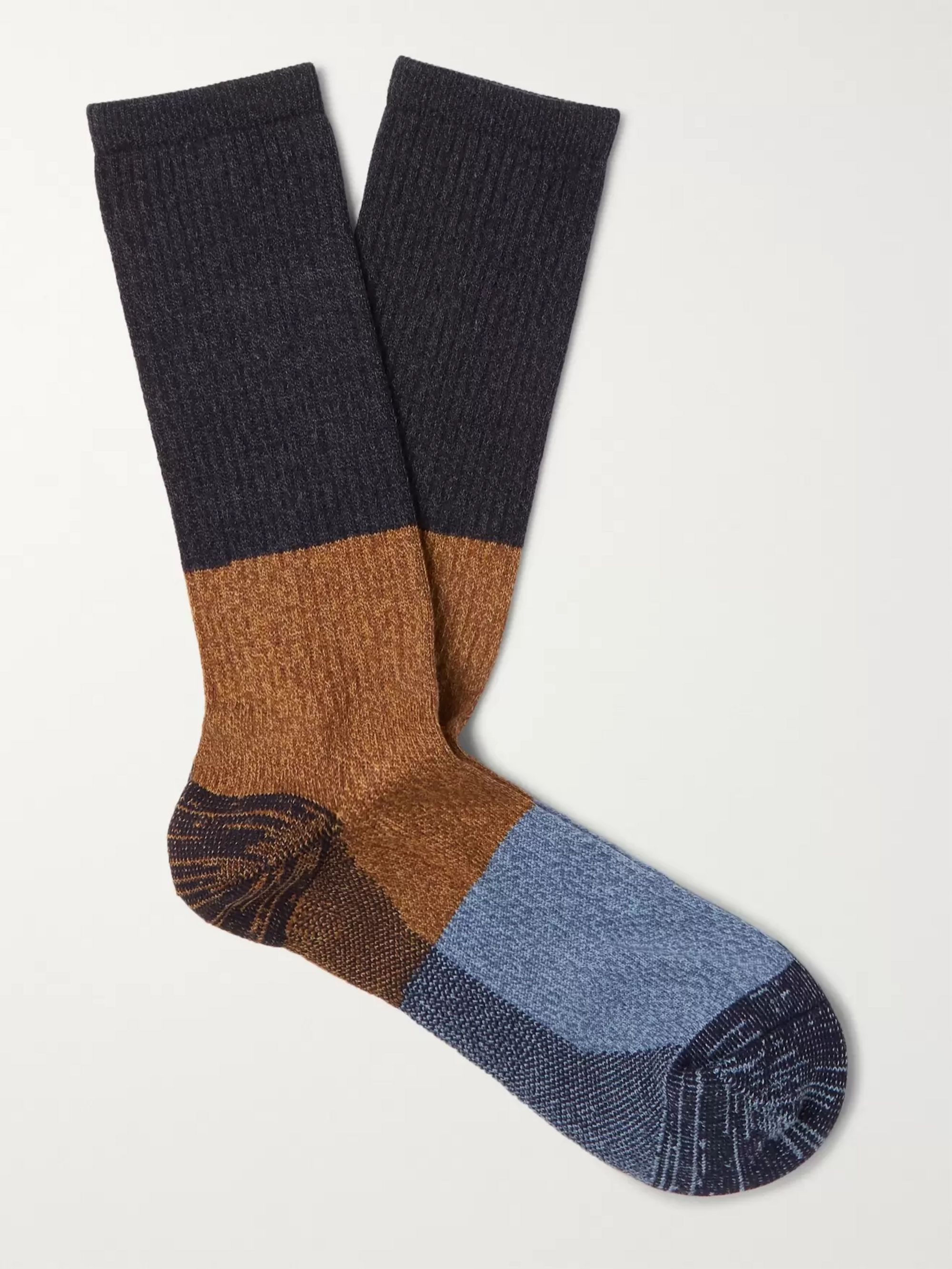 ANONYMOUS ISM Colour-Block Knitted Socks