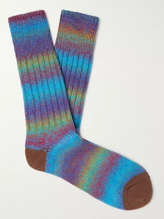 ANONYMOUS ISM Ribbed Knitted Socks