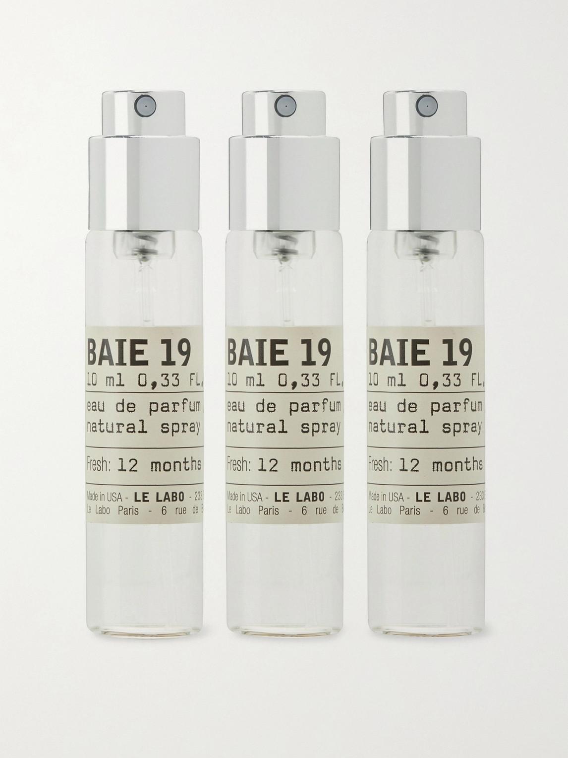 Le Labo Baie 19 Eau De Parfum Travel Tube Refills, 3 X 10ml In Colorless